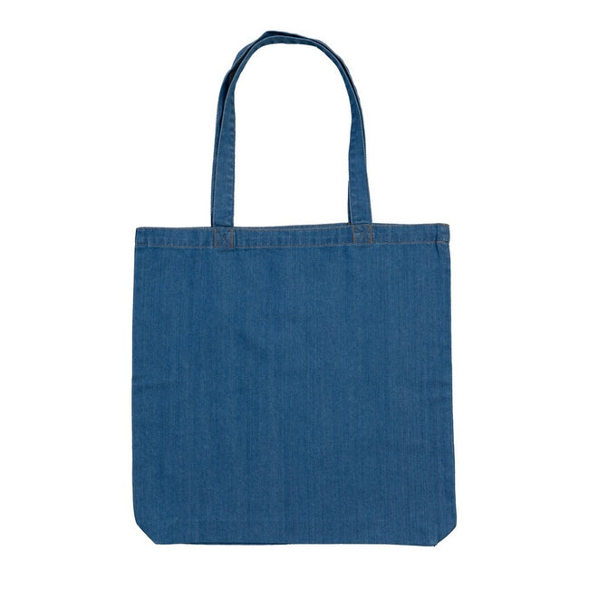 Denim Blue - Front - Mantis Denim Tote Bag