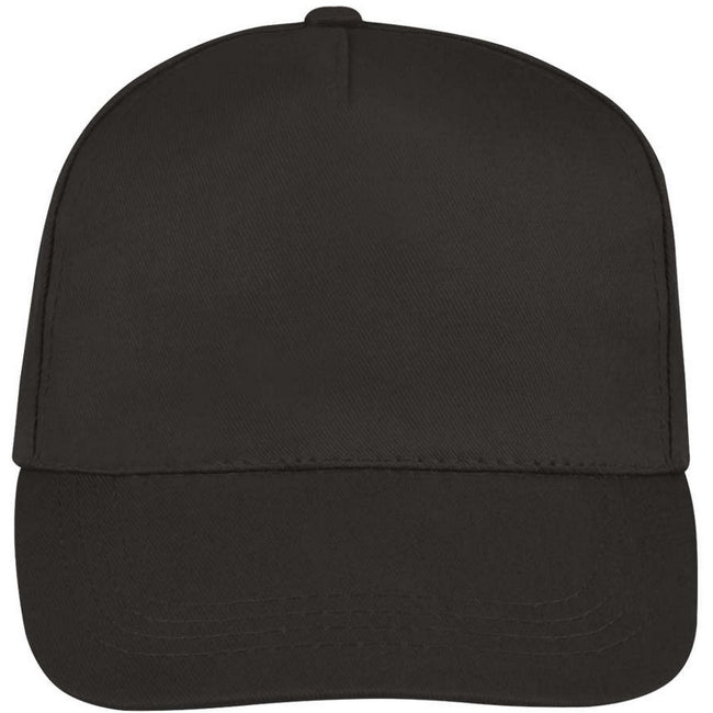 Forest Green - Side - SOLS Unisex Buzz 5 Panel Baseball Cap