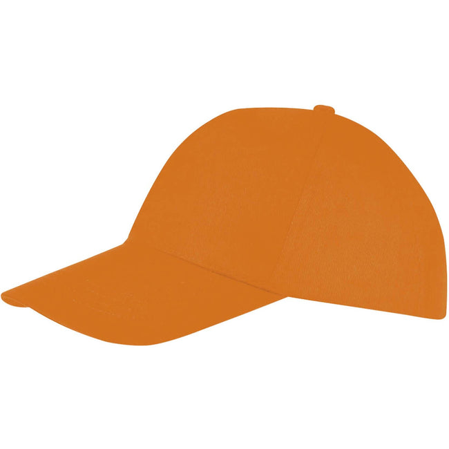 Red - Back - SOLS Unisex Buzz 5 Panel Baseball Cap