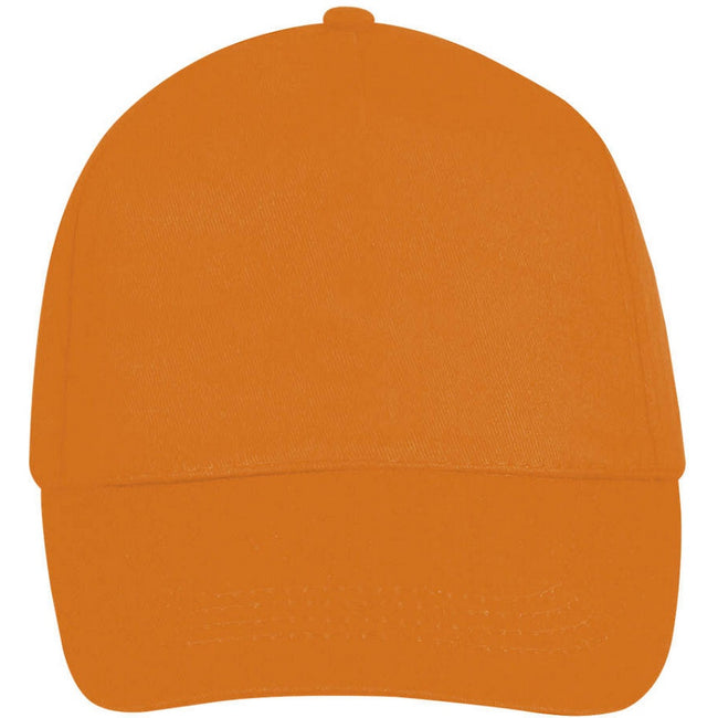 Red - Side - SOLS Unisex Buzz 5 Panel Baseball Cap