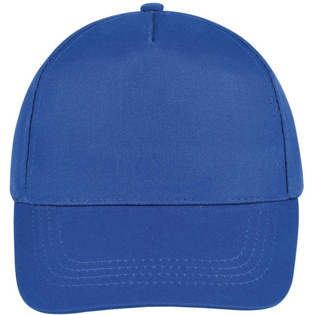 Atoll Blue - Side - SOLS Unisex Buzz 5 Panel Baseball Cap
