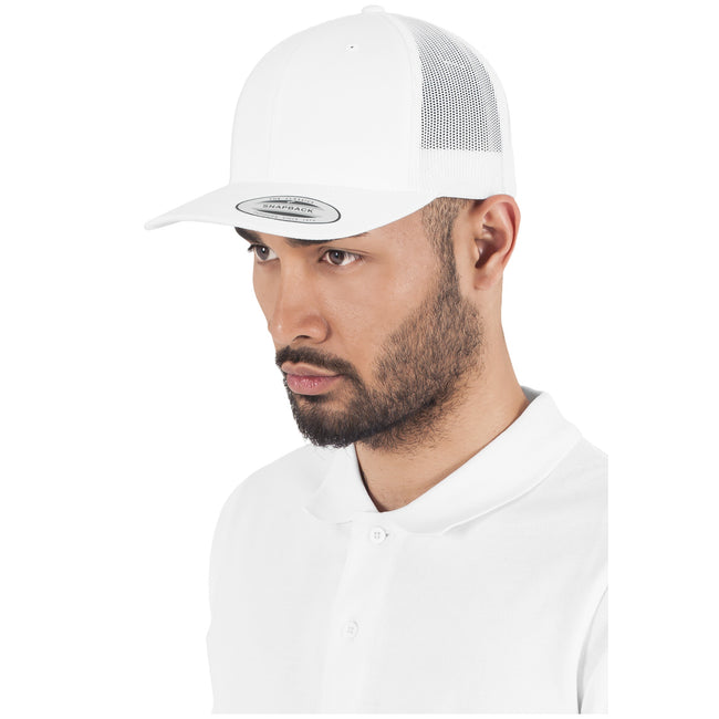 White - Side - Flexfit Unisex Retro Trucker Cap