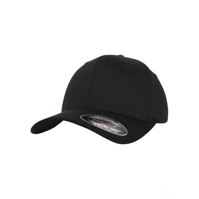 Black - Front - Flexfit Unisex Organic Cotton Cap