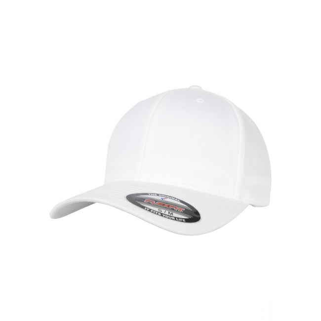 White - Front - Flexfit Unisex Organic Cotton Cap