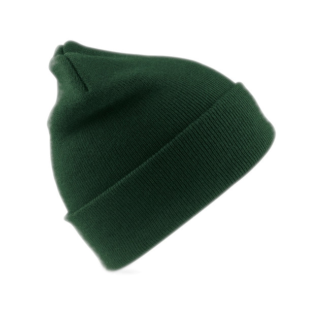 Bottle Green - Front - Result Adults Unisex Woolly Ski Hat