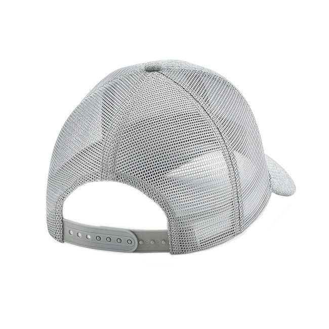 Heather Grey - Back - Beechfield Adults Unisex Jersey Athleisure Trucker Cap