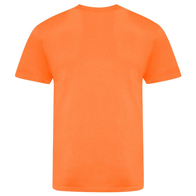 Electric Orange - Back - AWDis Unisex Adults Electric Tri-Blend T-Shirt