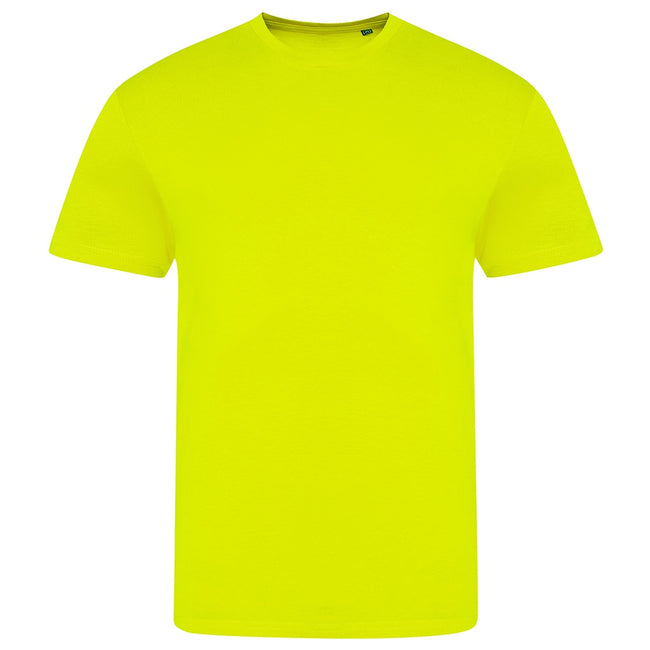 Electric Yellow - Front - AWDis Unisex Adults Electric Tri-Blend T-Shirt