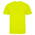 Electric Yellow - Back - AWDis Unisex Adults Electric Tri-Blend T-Shirt