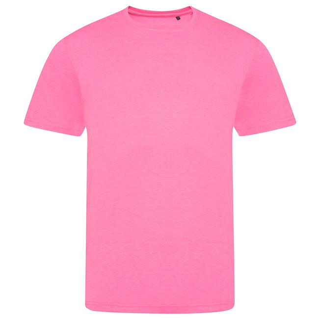 Electric Pink - Front - AWDis Unisex Adults Electric Tri-Blend T-Shirt