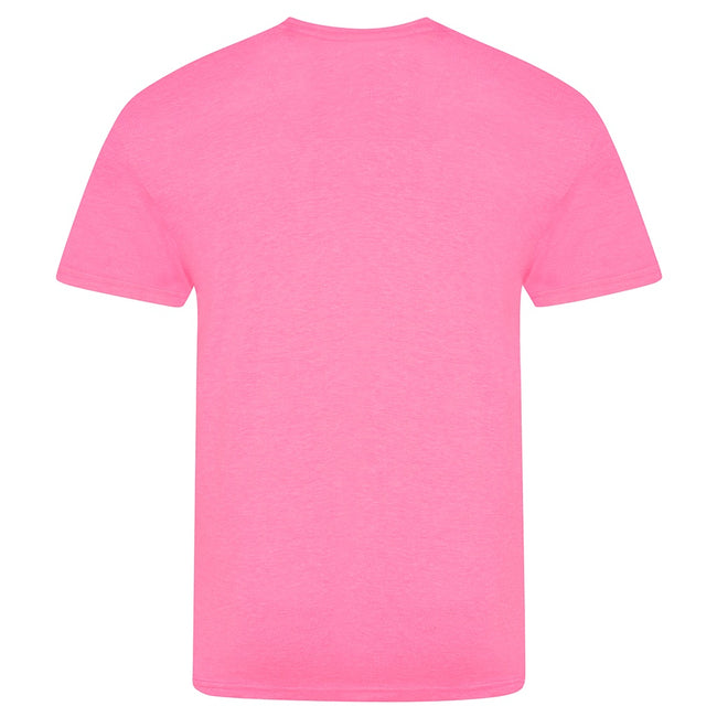 Electric Pink - Back - AWDis Unisex Adults Electric Tri-Blend T-Shirt