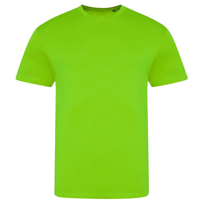 Electric Green - Front - AWDis Unisex Adults Electric Tri-Blend T-Shirt