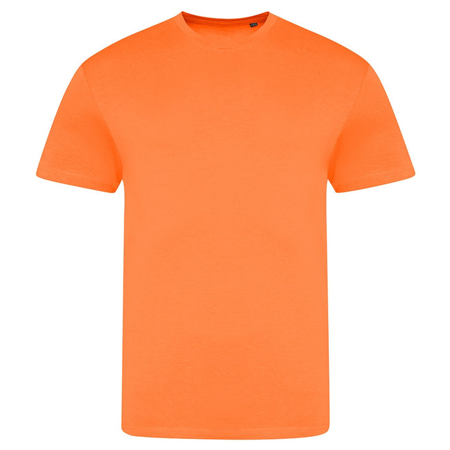 Electric Orange - Front - AWDis Unisex Adults Electric Tri-Blend T-Shirt