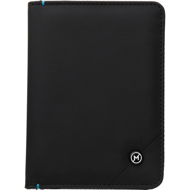 Solid Black - Back - Marksman Odyssey RFID Passport Cover