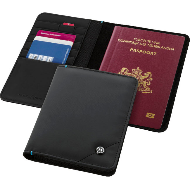 Solid Black - Lifestyle - Marksman Odyssey RFID Passport Cover