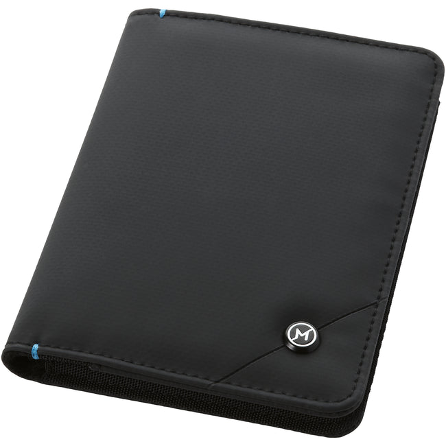 Solid Black - Front - Marksman Odyssey RFID Passport Cover