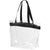 Transparent Clear-Solid Black - Front - Bullet Hampton Tote