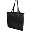 Solid Black - Front - Bullet Odessa Cotton Tote