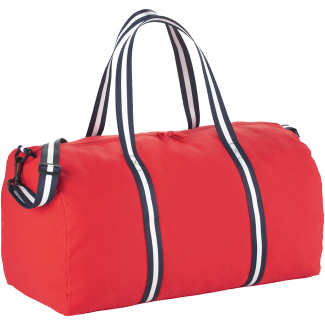 Red - Front - Bullet Cotton Weekender Duffel
