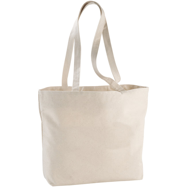 Natural - Front - Bullet Ningbo Zipped Shopper Tote