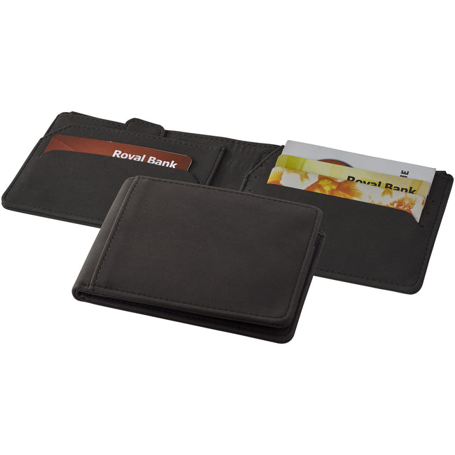 Solid Black - Back - Marksman Adventurer RFID Wallet