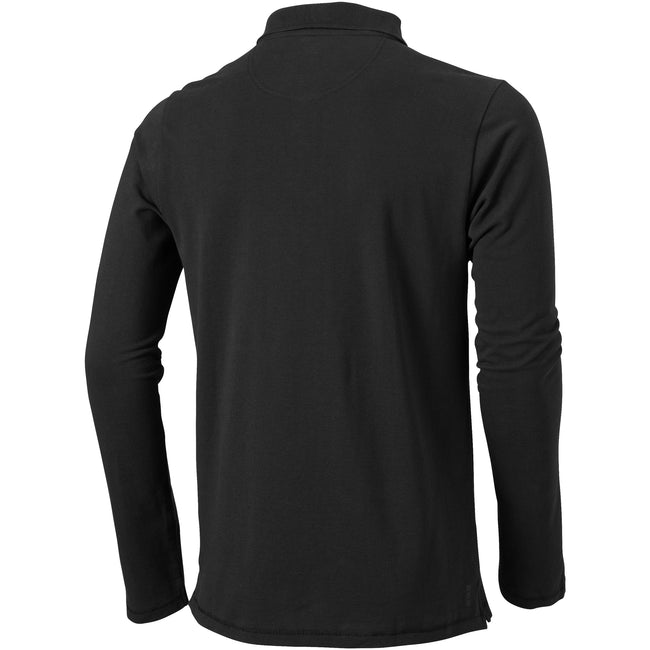 Anthracite - Back - Elevate Mens Oakville Long Sleeve Polo Shirt