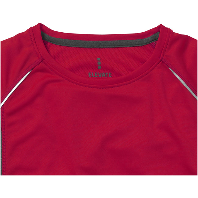 Red-Anthracite - Side - Elevate Mens Quebec Short Sleeve T-Shirt