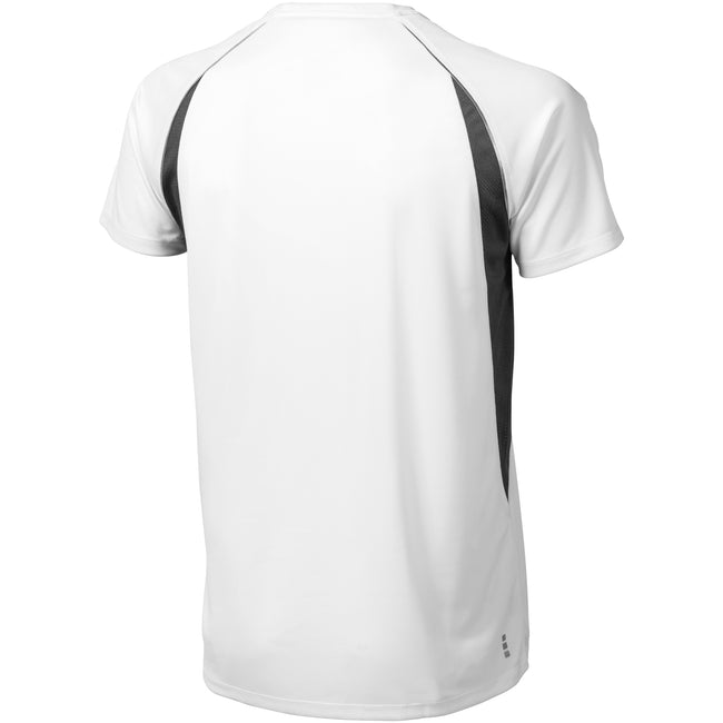 White-Anthracite - Back - Elevate Mens Quebec Short Sleeve T-Shirt