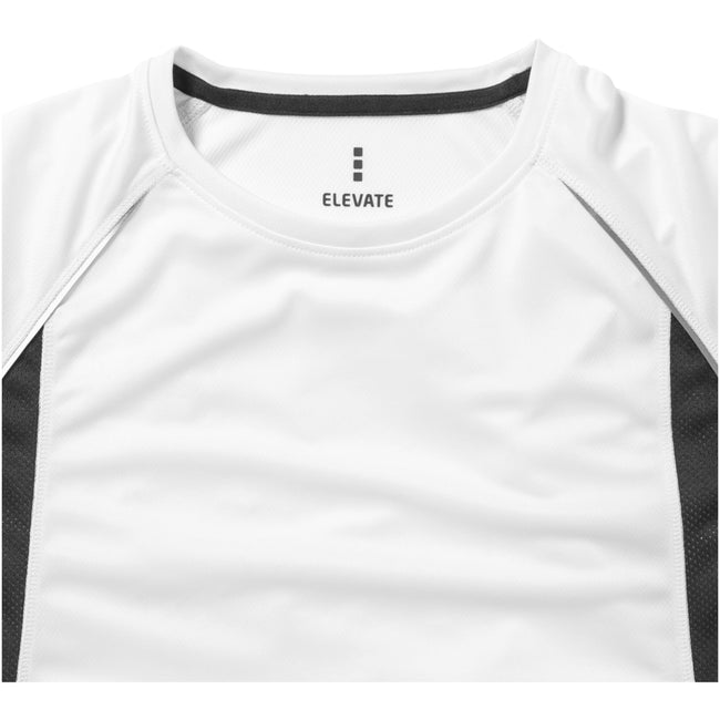 White-Anthracite - Side - Elevate Mens Quebec Short Sleeve T-Shirt