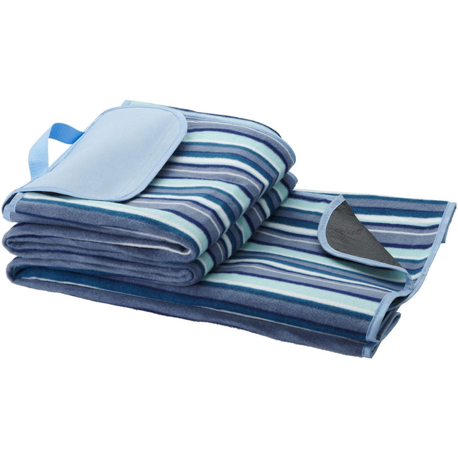 White-Blue - Front - Bullet Riviera Picnic Blanket