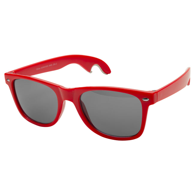 Red - Front - Bullet Sun Ray Sunglasses With Bottle Opener