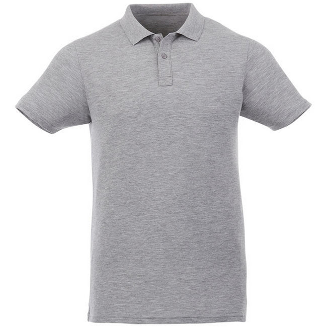 Heather Grey - Front - Elevate Liberty Mens Short Sleeve Polo Shirt