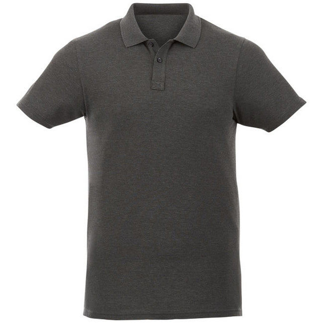 Heather Charcoal - Front - Elevate Liberty Mens Short Sleeve Polo Shirt
