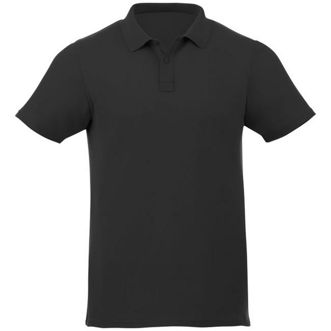 Black - Front - Elevate Liberty Mens Short Sleeve Polo Shirt