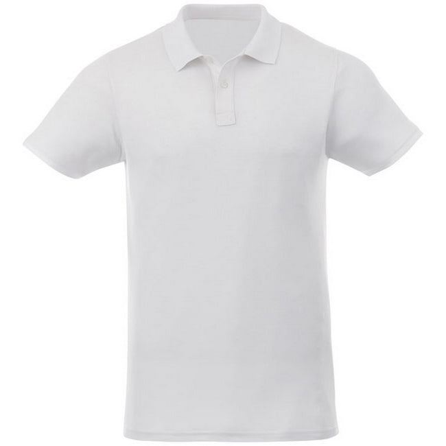 White - Front - Elevate Liberty Mens Short Sleeve Polo Shirt