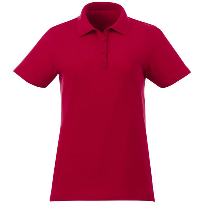 Red - Front - Elevate Liberty Womens-Ladies Private Label Short Sleeve Polo Shirt
