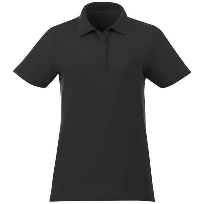 Black - Front - Elevate Liberty Womens-Ladies Private Label Short Sleeve Polo Shirt