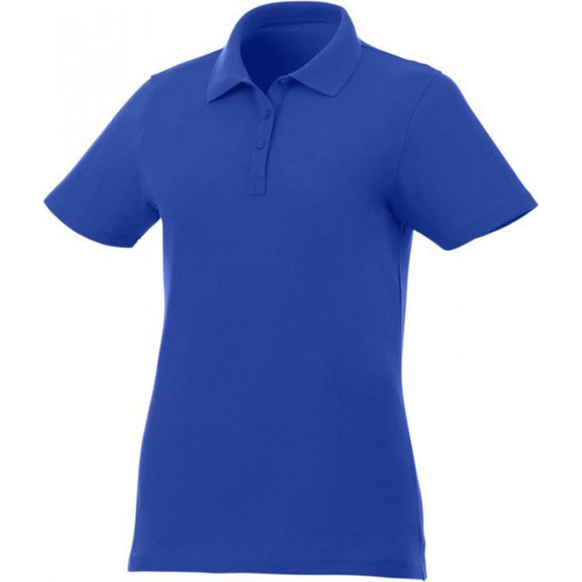 Blue - Front - Elevate Liberty Womens-Ladies Private Label Short Sleeve Polo Shirt