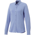 Light Blue - Front - Elevate Womens-Ladies Bigelow Long Sleeve Pique Shirt