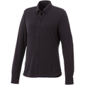 Storm Grey - Front - Elevate Womens-Ladies Bigelow Long Sleeve Pique Shirt