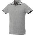 Grey Melange-Navy-White - Front - Elevate Mens Fairfield Polo With Tipping