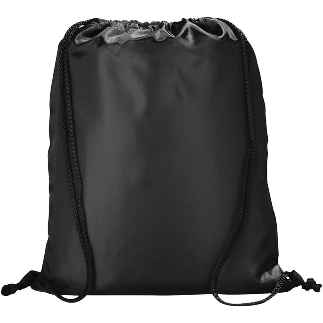 Solid Black - Back - Bullet The Peek Drawstring Cinch Backpack (Pack of 2)