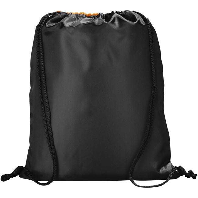 Orange-Solid Black - Back - Bullet The Peek Drawstring Cinch Backpack (Pack of 2)