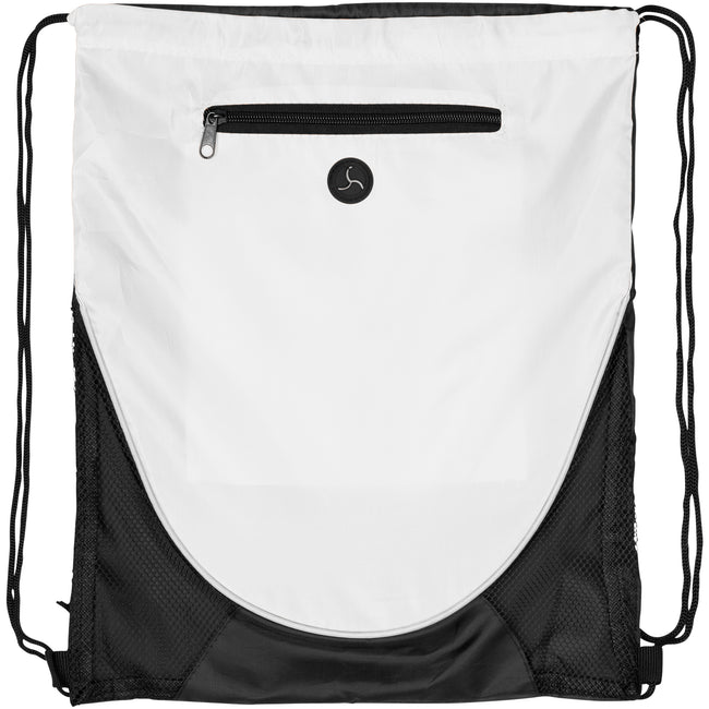 White - Front - Bullet The Peek Drawstring Cinch Backpack (Pack of 2)