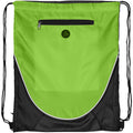 Lime - Front - Bullet The Peek Drawstring Cinch Backpack (Pack of 2)