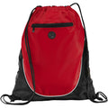Red-Solid Black - Back - Bullet The Peek Drawstring Cinch Backpack (Pack of 2)