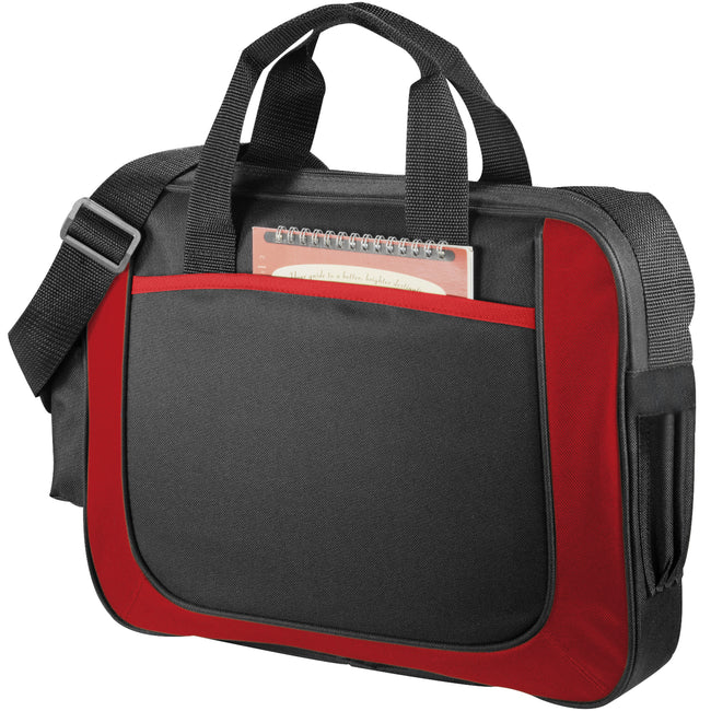 Solid Black-Red - Front - Bullet The Dolphin Business Briefcase (Pack of 2)