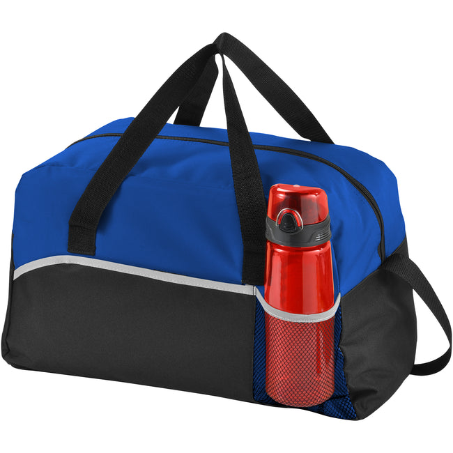Solid Black-Royal Blue - Side - Bullet The Energy Duffel Bag (Pack of 2)