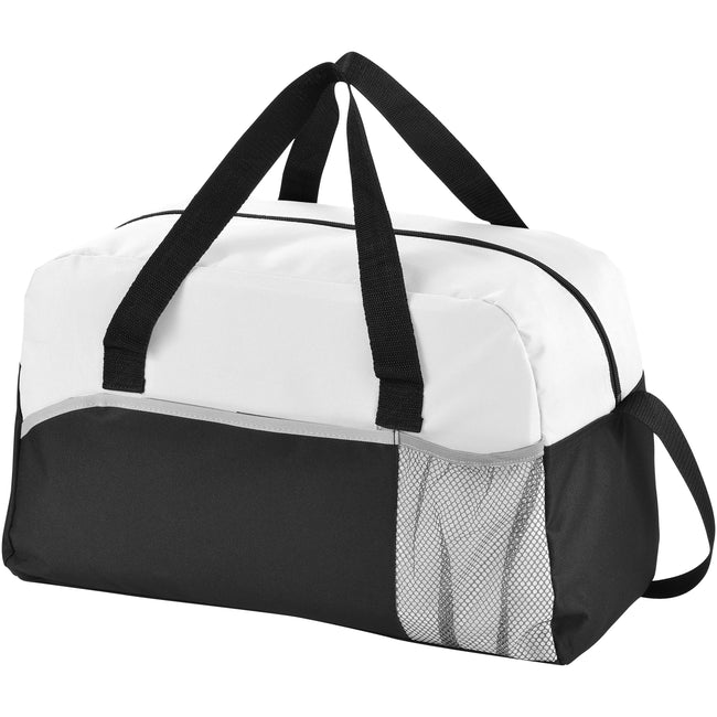 Solid Black-White-Grey - Front - Bullet The Energy Duffel Bag (Pack of 2)