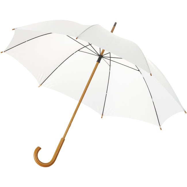 White - Front - Bullet 23 Inch Jova Classic Umbrella (Pack of 2)